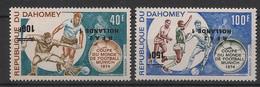 Dahomey - 1970 - PA N°Yv. 221b Et 222b - Football - Variété Surcharge Renv. / Inv. Ovpt. - Neuf Luxe ** - 1974 – West-Duitsland