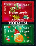 2000 France Sc 2793/2794 Happy New Year. Christmas  **MNH Very Nice, Mint Never Hinged  (Scott) - Ongebruikt