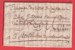 MARQUE 11 S.CERNIN ST SERNIN AVEYRON AN2 1794 TEXTE DE PLAISANCE MONTAUBAN INDICE 15 - 1801-1848: Precursores XIX