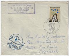 Belgium 1967 Cover Sent From Kortrijk To São Paulo By Koksijde Coat Of Arms World Welding Center - Sin Clasificación