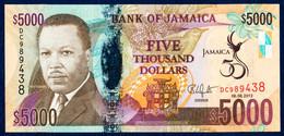JAMAICA - JAMAÏQUE - JAMAIKA 5000 DOLLARS P-93 COMMEMORATIVE Golden Jubilee Of Jamaica 2012 UNC - Jamaica