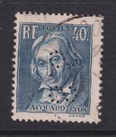 Perfin/perforé/lochung France 1934 No 295 S.S Seilignam Et Cie - Perforés
