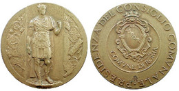 02087 GETTONE JETON TOKEN GIULIO CESARE CAESAR PRESIDENZA DEL CONSIGLIO COMUNALE COMUNE DI ROMA IPSZ - Non Classificati