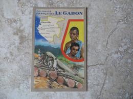Série Les Colonies Française : Le Gabon Carte Libreville Edition Des Produits Du Lion Noir Format 9/14 Cm - Zonder Classificatie
