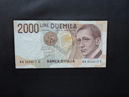 ITALIE * : 2000 LIRE    6.3.1992   CI 68 BS 506 ** / P 115       TTB+ *** - 2000 Lire