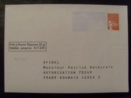 18480- PAP Réponse Luquet AFIBEL, Validité 31/12/01, Repiquage Pub Au Dos, Neuf - Prêts-à-poster:Answer/Luquet