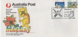 Australia PM 1646 1990 Mackay The Fourth Suncorp Games,Athletics Souvenir Cover - Marcofilie