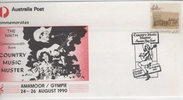 Australia PM 1666 1990 Country Music Muster, FDI Souvenir Cover - Marcofilie