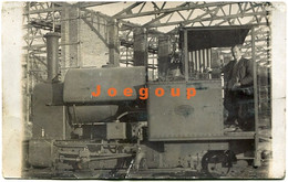 Old Photo Postcard Man On Locomotive Railway - Trains