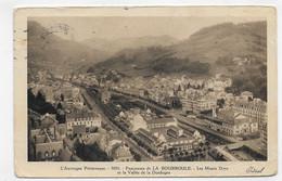 (RECTO / VERSO) LA BOURBOULE EN 1948 - N° 3001 - PANORAMA - LEGERS PLIS ANGLES - BEAU TIMBRE - FORMAT CPA - La Bourboule