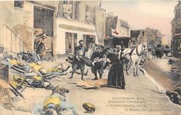VAL DE MARNE  94  LE LENDEMAIN DE CHAMPIGNY A BRY SUR MARNE - GUERRE 1870-71 - CARTE DESSINEE - Bry Sur Marne
