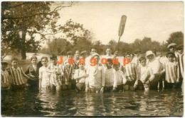 Photo Postcard Children Boys Futbol Soccer Team In The River - Anonymous Persons
