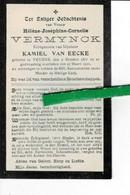 Hélène Vermynck Echt Kamiel Van Eecke O Veurne 1877 + Veurne 1910 - Images Religieuses