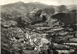 CPSM Grand Format SAURAT  (Ariège) Alt 675m Vue Generale Aérienne RV - Altri Comuni