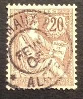 126 ° 6 Journaux PP Alger Mouchon 20 C Brun Lilas 1/2/1905 Oblitéré - 1877-1920: Semi-Moderne