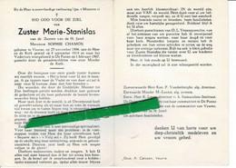Sophie Chamon ( Zuster ) O Veurne 1896 + De Panne 1967 - Images Religieuses