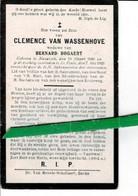 Clemence Van Wassenhove Wed Bernard Bogaert O Nazareth 1849 + De Pinte 1923 - Images Religieuses