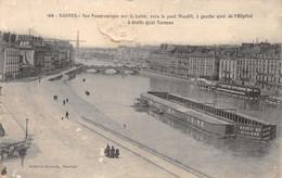 Nantes (44) - Vue Panoramique Sur La Loire Vers Le Pont Maudit - Nantes
