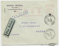 EMA 2.65 LA COURNEUVE 19.X. 1938 LETTRE AVION POUR ALGERIE - Air Post