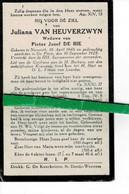Juliana Van Heuverzwyn Wed Pieter De Bie O Nazareth 1846 + De Pinte 1925 - Images Religieuses