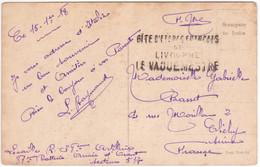 1918 Carte Franchise Militaire Griffe Linéaire GITE D'ETAPES FRANÇAIS LIVOURNE VAGUEMESTRE Armée D'Orient Secteur 517 - Guerra Del 1914-18