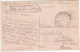 1917 Carte Franchise Militaire Gendarme étape FOGGIA Italie Vers Salonique Armée D'Orient Secteur 502 - Guerra Del 1914-18
