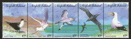 NORFOLK Is, 1994 SEABIRDS STRIP 5 MNH - Norfolk Eiland