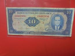 COSTA RICA 10 COLONES 1970 Circuler (B.22) - Costa Rica