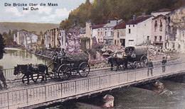 PROVINCE DE NAMUR / GUERRE 14-18 / PONT SUR LA MEUSE AVEC CONVOI ALLEMAND / FELDPOST 1916 - Unclassified
