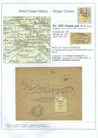 PERSIA - IRAN 1919;  1ch Cover (Zincplate Issue) - Rar Destination !!!  TORCHIZ - TORBETT HEIDERI - Irán