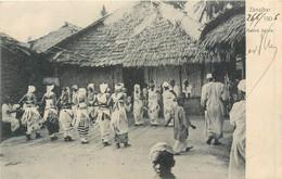 CPA Afrique Tanzanie Zanzibar Native Dance Costumes 1906 Danse Folklore - Tanzanie