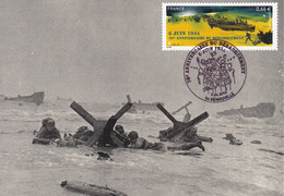 Carte Maximun 70eme Anniversaire Débarquement En Normandie D-DAY 1944 WWII - American Army Engineers In OMAHA Section - WW2 (II Guerra Mundial)