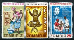Zambia 1970 Preventative Medicine Set MNH (SG 152-154) - Zambia (1965-...)