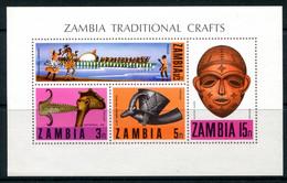 Zambia 1970 Traditional Crafts MS MNH (SG MS160) - Zambia (1965-...)