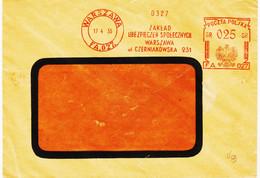 Pologne , De Warsovie  En 1935 Mahine FA027 , Aigle  Tarif 025   TB - Affrancature Meccaniche Rosse (EMA)