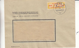 Allemagne - République Démocratique - Lettre De 1958 - Oblit Jena - Exp Vers Halle Saale - Briefe U. Dokumente