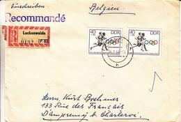 Allemagne - République Démocratique - Lettre Recom De 1964 - Oblit Luckenwalde - Jeux Olympiques - Tokyo 64 - Briefe U. Dokumente