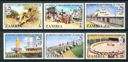 Zambia 1974 Tenth Anniversary Of Independence Set MNH (SG 211-216) - Zambia (1965-...)