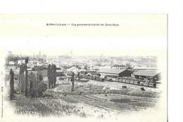 ANGOULEME  VUE PANORAMIQUE  PRISE DE SAINT ROCH    GARE TRAINS  WAGONS TIRAGE 1900    DEPT 16 - Angouleme