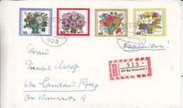 Allemagne - Berlin - Lettre Recom De 1975 - Oblit Bad Reichenhall - Fleurs - - Briefe U. Dokumente