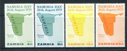 Zambia 1975 Namibia Day Set MNH (SG 240-243) - Zambia (1965-...)
