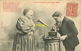 Editeur Bergeret, Les Refrains De Ma Belle-mère, Vieux Gramophone, Carte Pas Courante Affranchie 1906 + Cachet Lettre A - Bergeret