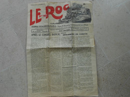 Le Roc- Journal Socialiste S.F.I.O.  Arrondissement De Saint-Affrique - N°19 - 15 Novembre 1937 - - Other