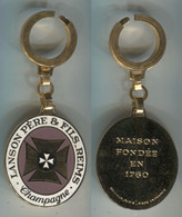 Porte-clefs Duseaux Champagne Lanson Reims Ex3 - Key-rings
