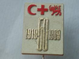 BADGE Z-27-6 - RED CROSS, CROIX ROUGE, SPENDE BLUT, PLASTIC PIN - Medical