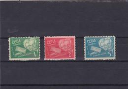Cuba Nº 293A Al 293C - Unused Stamps