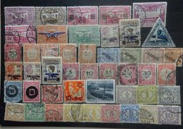 NEDERLANDS  INDIE    Samenstelling   Luchtpost  /  Dienstzegels    Gestempeld      Zie Foto - Nederlands-Indië