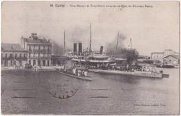 34. CETTE. Sous-Marins Et Torpilleurs Amarrés Au Quai Du Nouveau Bassin - Sete (Cette)