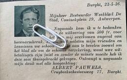 BURCHT..1936.. UITBETALING VERZEKERING AAN DE HEER ALBERT PAUWELS - Unclassified