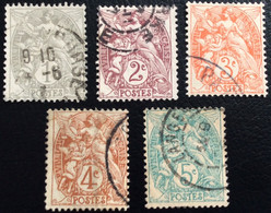N° 107 A 111  OBLITÉRÉ ( LOT:836 ) - 1900-29 Blanc